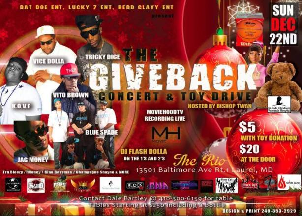 THE BIGGEST DMV INDIES CHRISTMAS CONCERT DEC 22ND